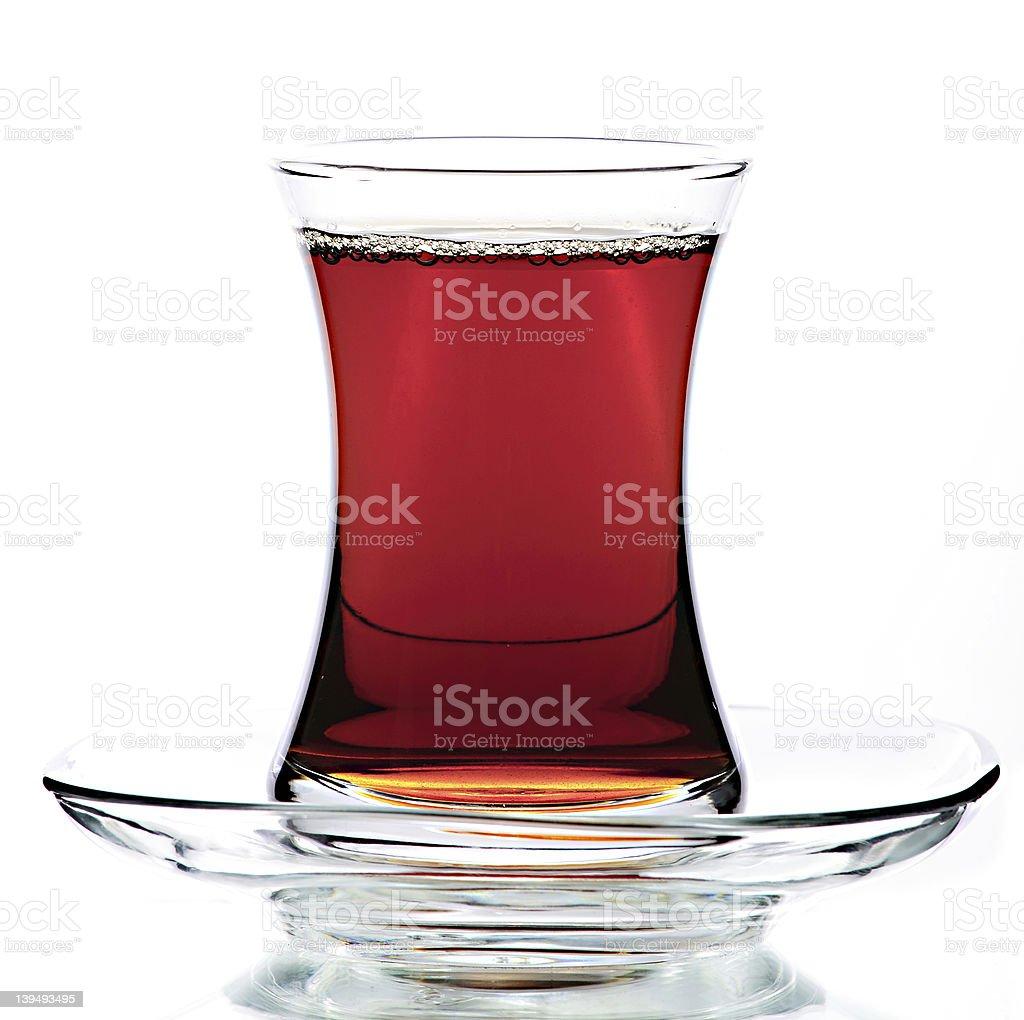 Turkish Modern Tea Glass stock photo