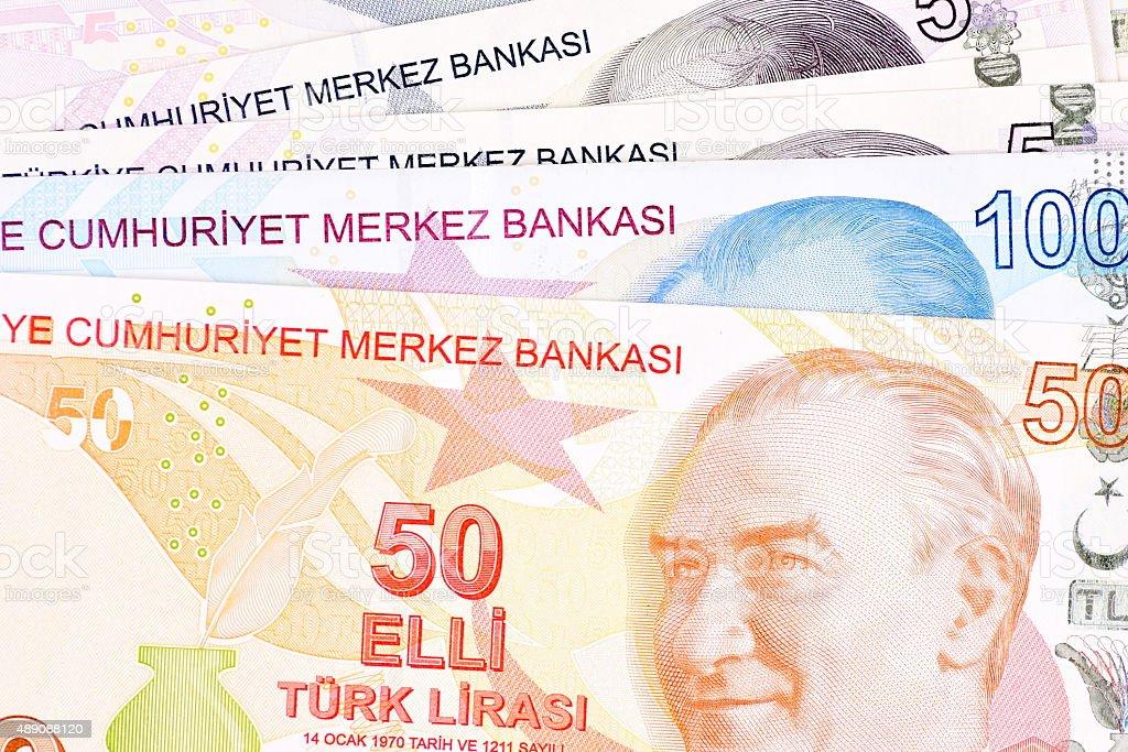 Turkish Money Turkish Lira stock photo