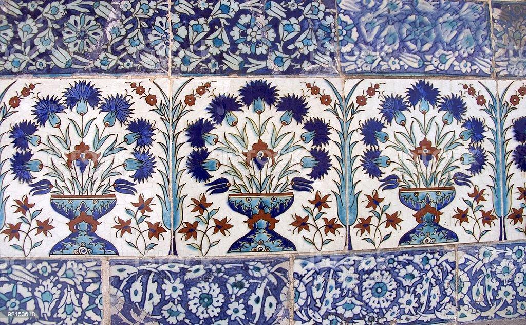Turkish mosaic 3 royalty-free stock photo