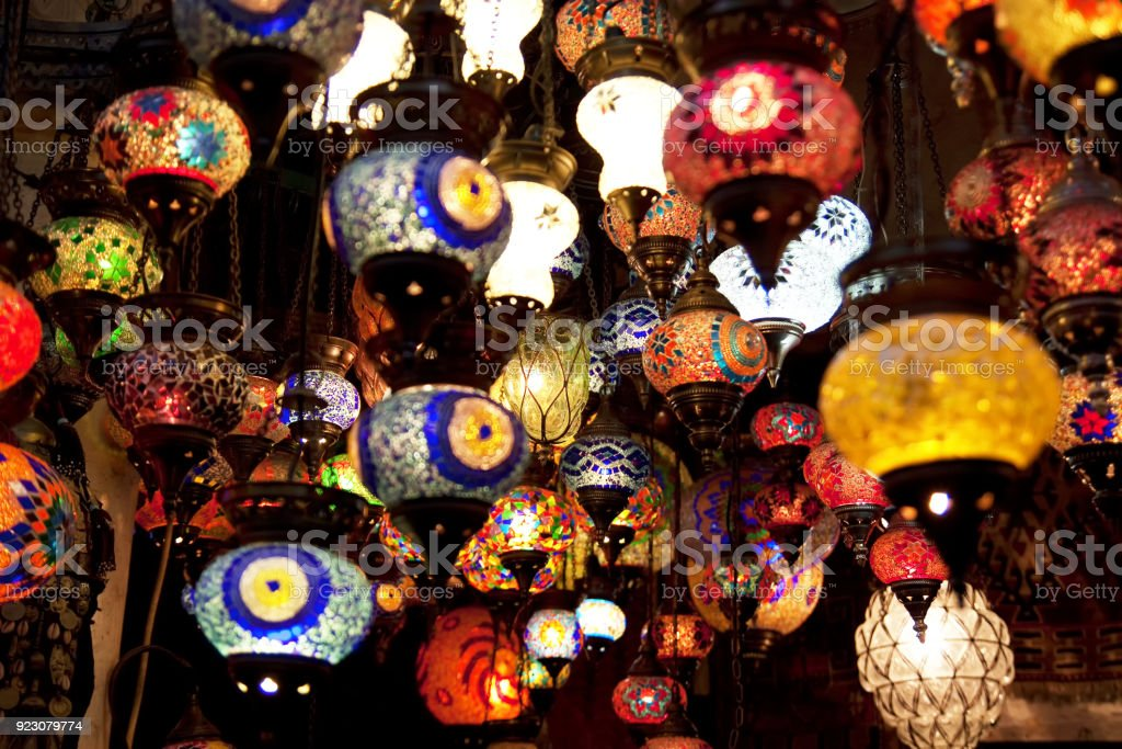Turkish Mosaic Lamps Royalty Free Stock Photo