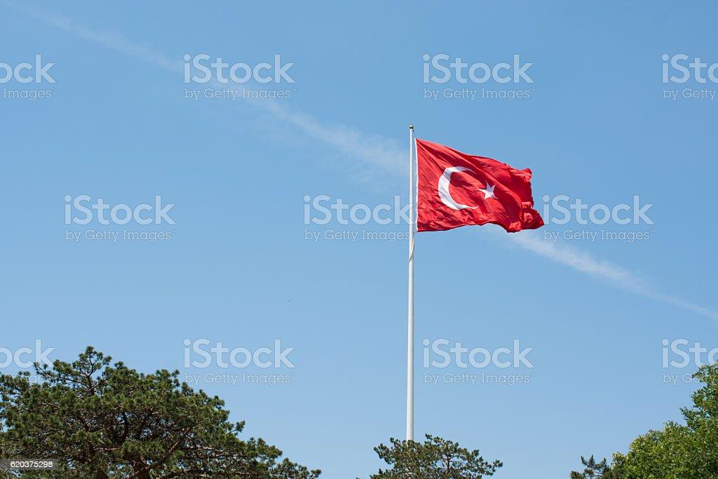 Bandeira Nacional Turca foto de stock royalty-free