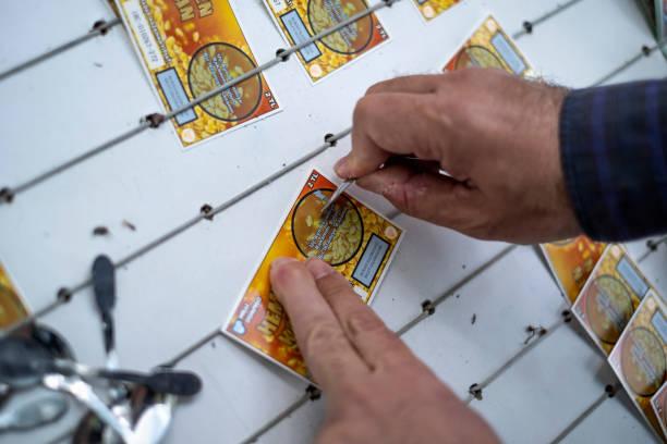 Turkish National Lottery Tickets stock photo