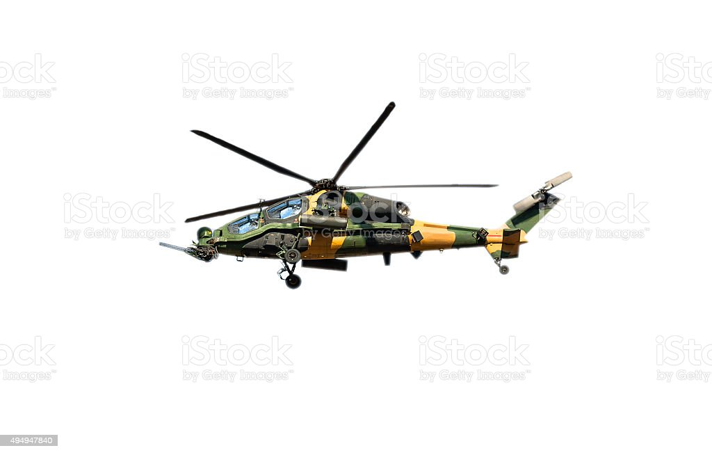turkish new assault helicopter named 'Atak' stock photo