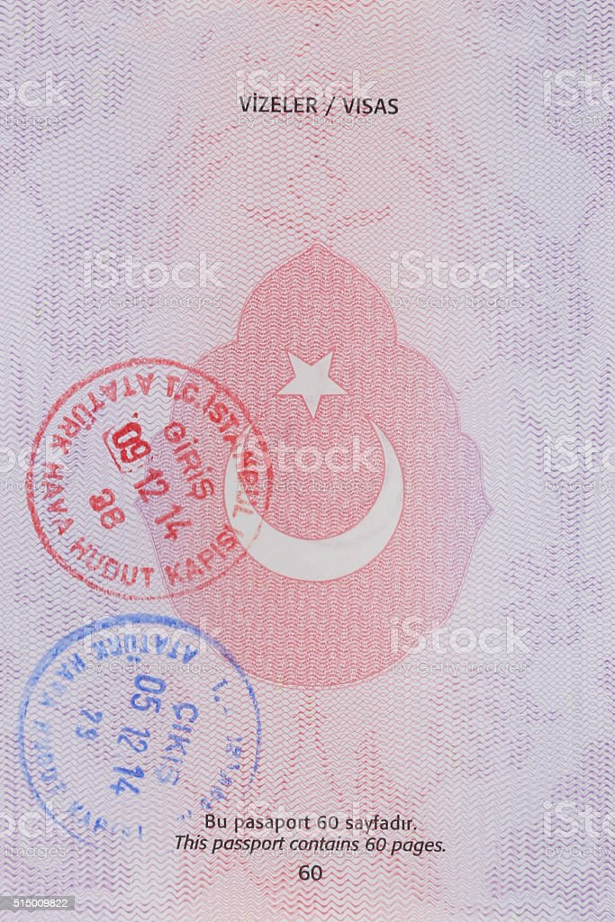 Turkish pasport stock photo