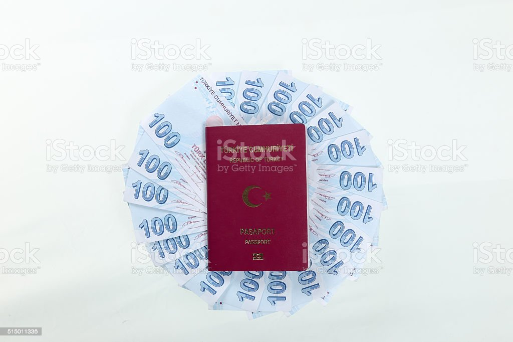 Turkish Passport stock photo