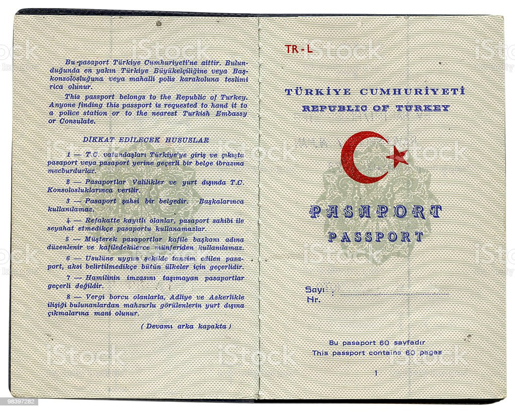 Turkish Passport royalty-free stock photo