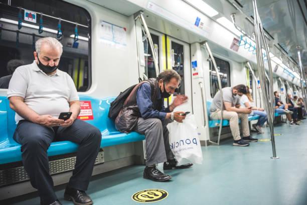 Cтоковое фото Turkish people transport at Marmaray train