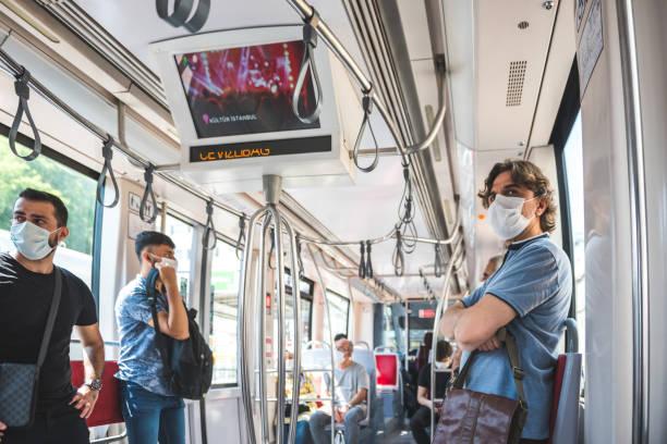 Cтоковое фото Turkish people transport at tramway train