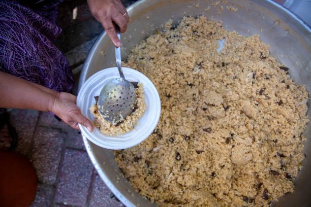Turkish Pilav / Pilaf Rice in the Boiler. stock photo