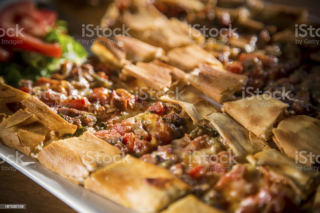 Turkish Pizza stock photo