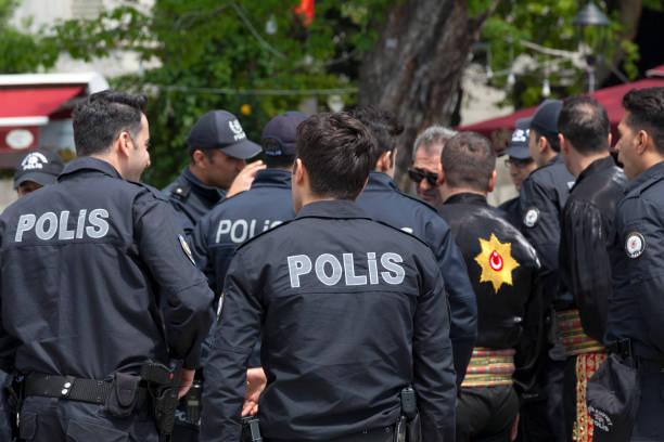 Turkish policemen stock photo