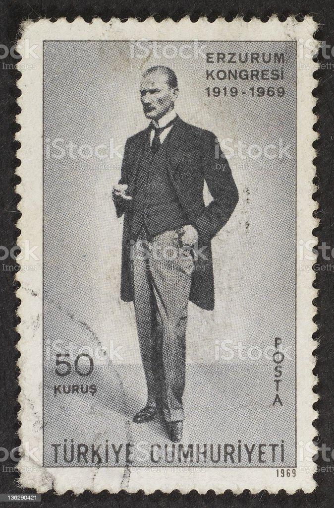 Turkish postage stamp stock photo