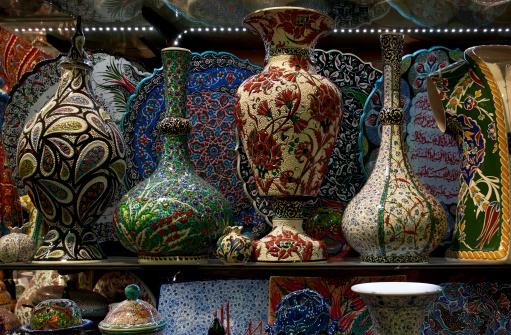 Turkish pottery shop