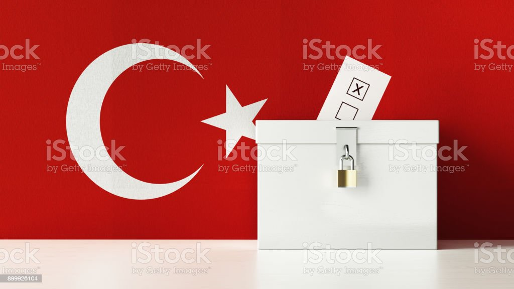 Turkish Presidential and Legislative Elections Concept stock photo