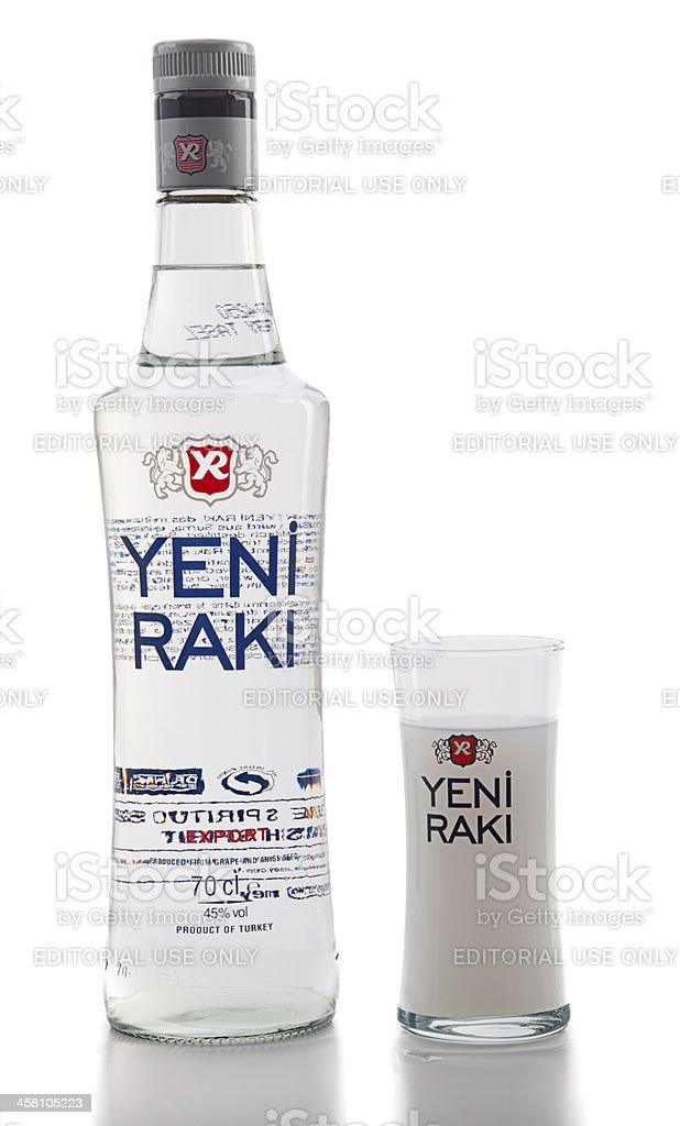 Turkish Raki royalty-free stock photo