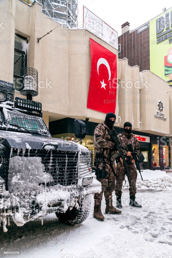 Turkish Rapid Response Team stock photo