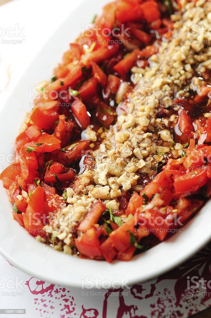 turkish salad royalty-free stock photo