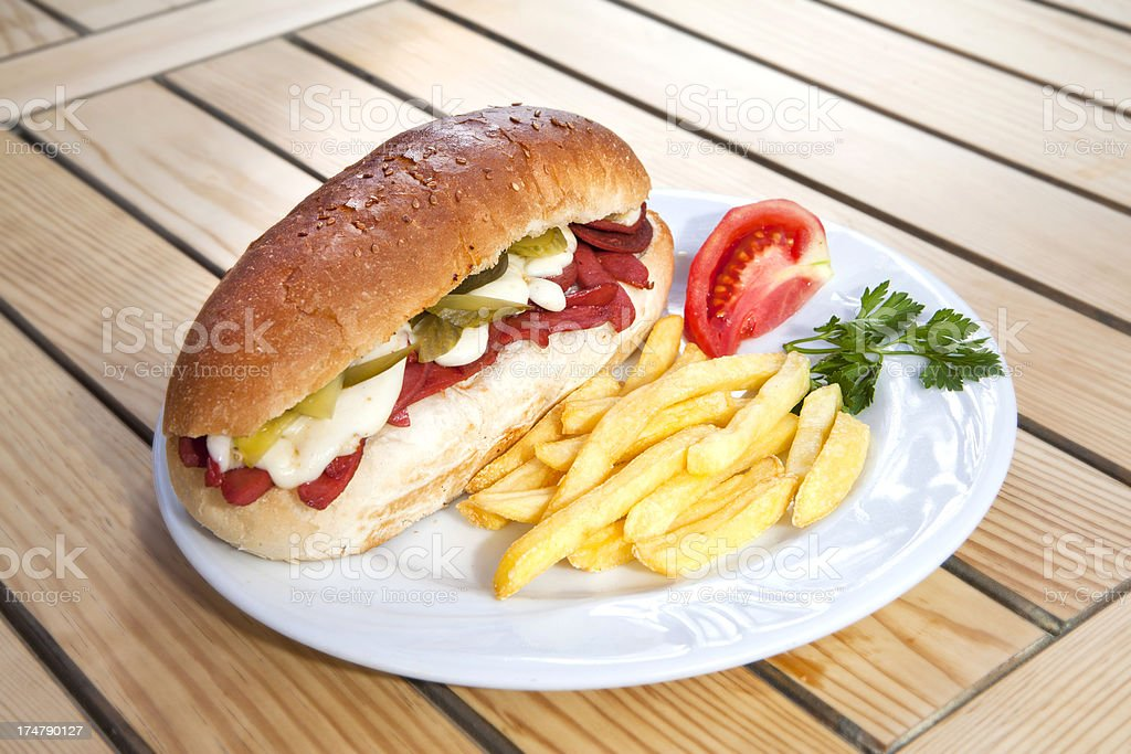 Turkish sandwich royalty-free stock photo
