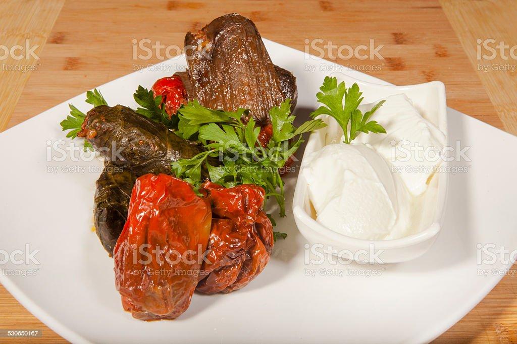 Turkish Sarma and Dolma stock photo