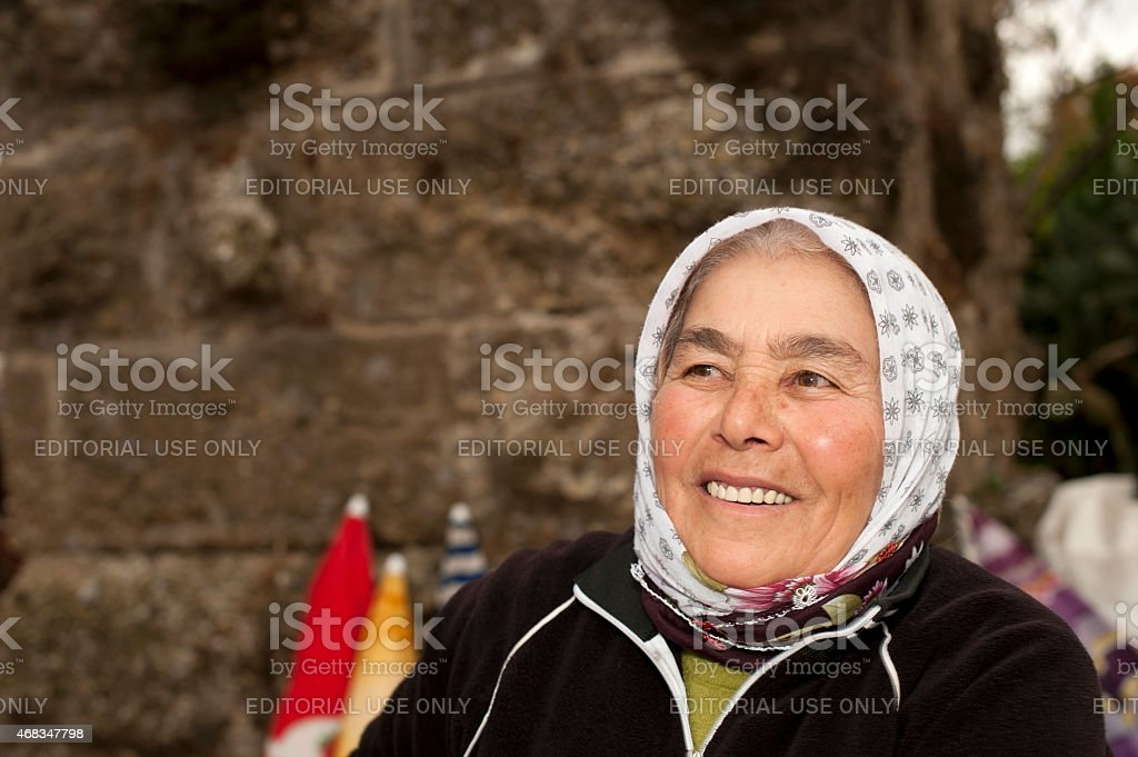 Turkish senior woman portrait royalty-free stock photo