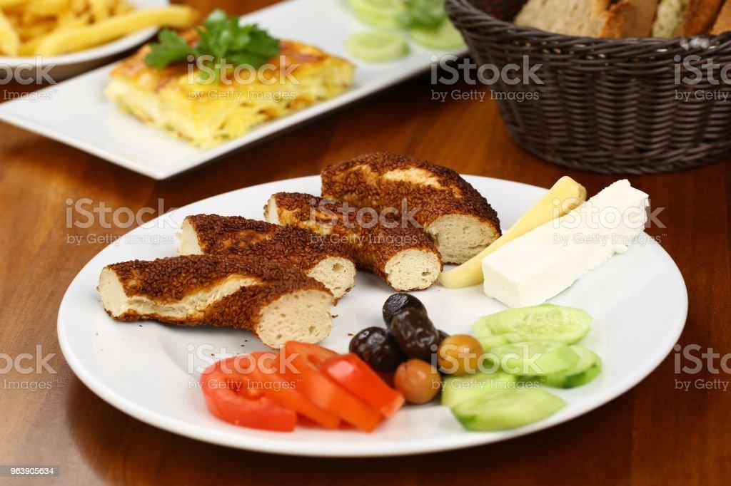 Turkish Simit - Bagel and breakfast - Royalty-free Adulation Stock Photo