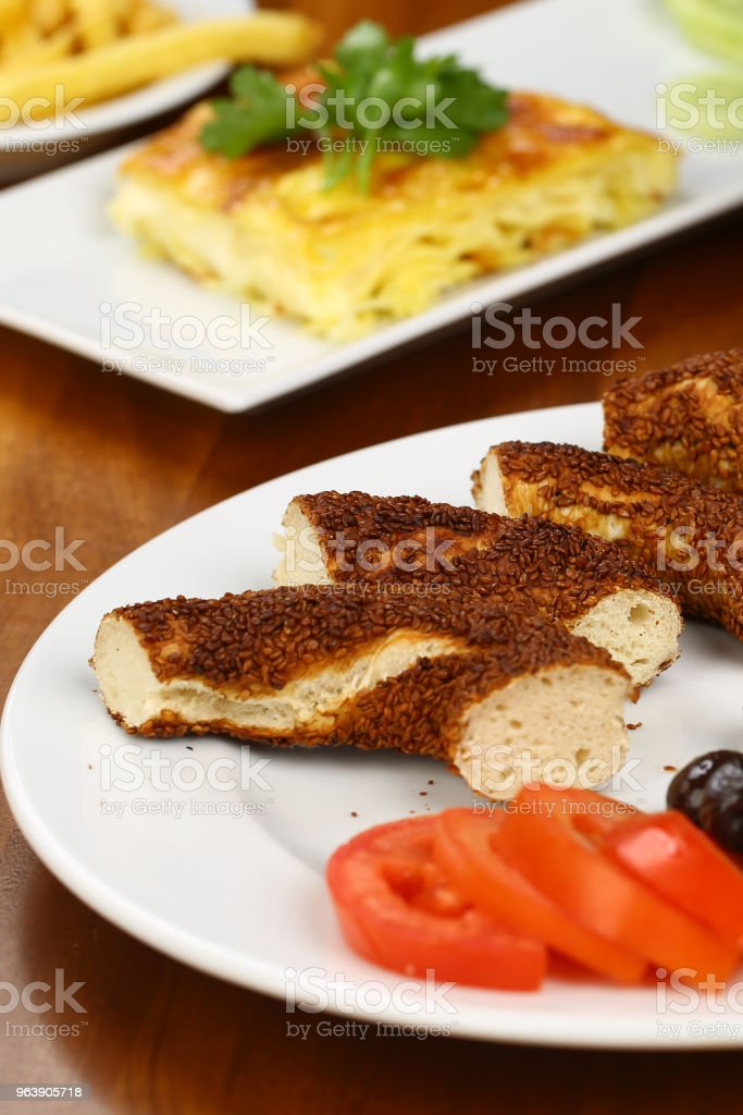 Turkish Simit - Bagel and breakfast - Royalty-free Adulation Stock Photo