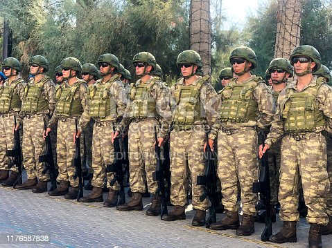 istock Turkish soldiers are standing during the Armed Forces Day is a national holiday that is currently celebrated in Turkey. 1176587838