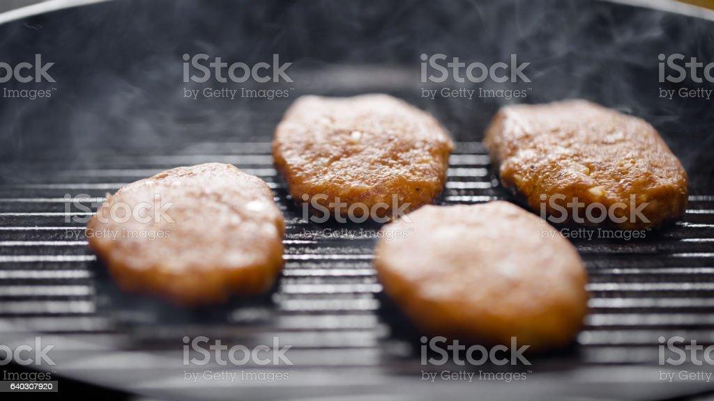 Turkish style meatballs grilled stock photo