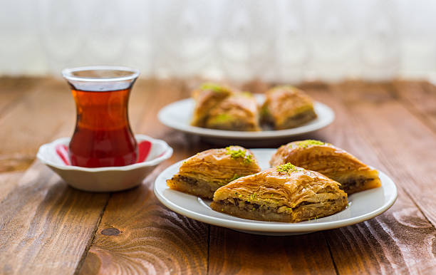 Turkish sweet: Baklava. stok fotoğrafı