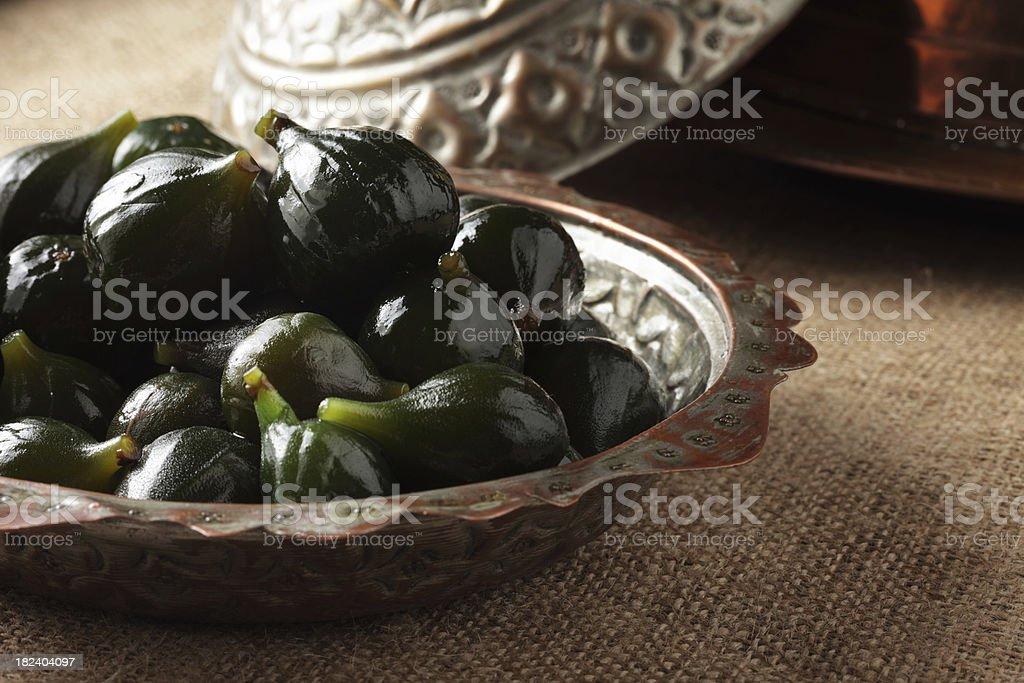 Turkish Sweet Food Fig dessert stock photo