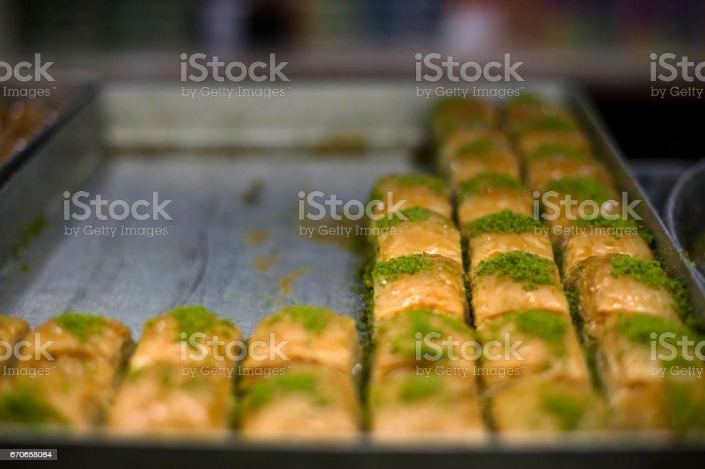 Turkish Sweets Baklava-Baklawa stock photo