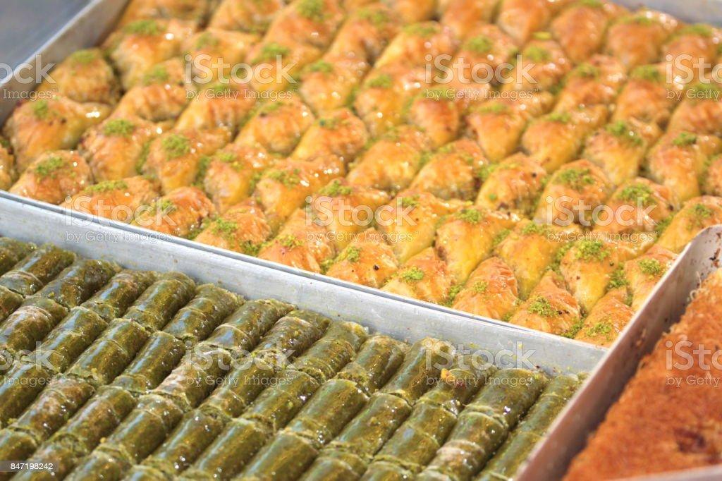 Turkish sweets stock photo