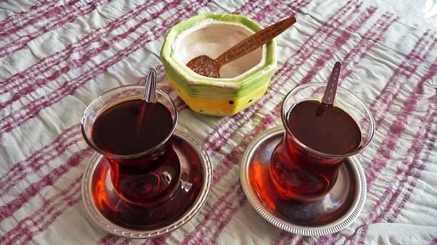 Turkish tea 01 stock photo