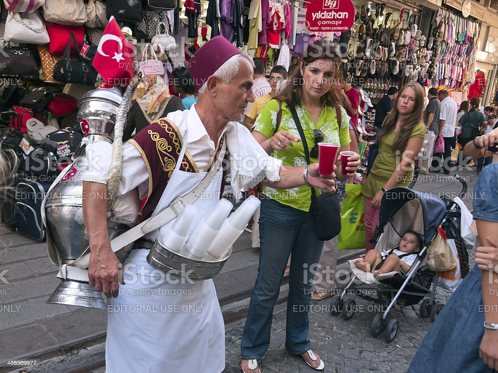 Turkish tea at the street royalty-free stock photo