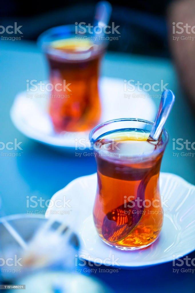 Two glasses of turkish tea