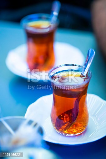 Two glasses of turkish tea