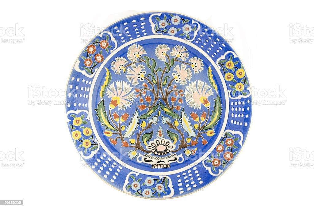 Turkish tile dish royalty-free stock photo