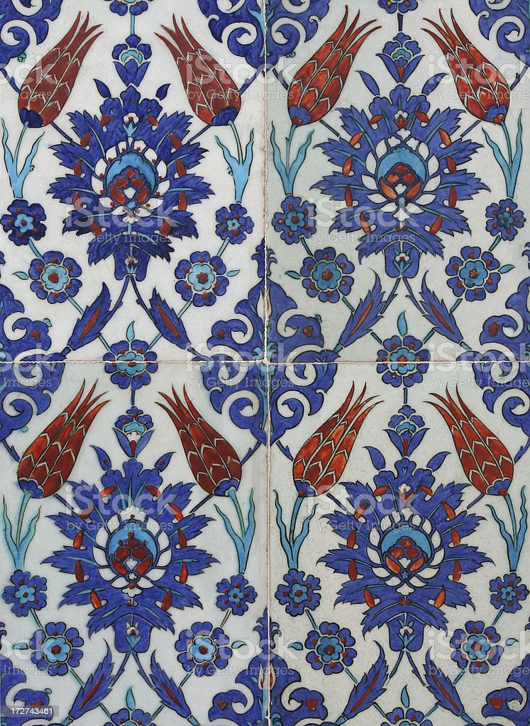 Turkish tile sample royalty-free stock photo