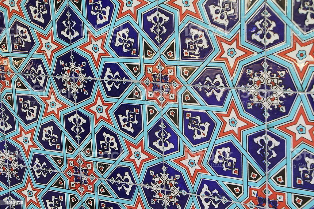 turkish tiles in a mosque royalty-free stock photo