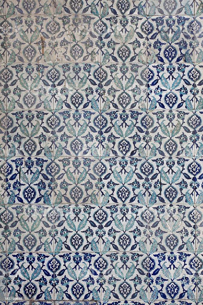 Turkish tiles royalty-free stock photo