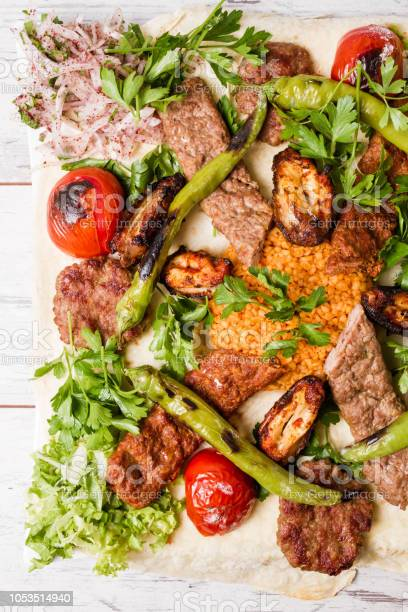 Turkish Traditional Mixed Kebab Plate With Adana And Chicken Kebabs Stock Photo Download Image Now Istock