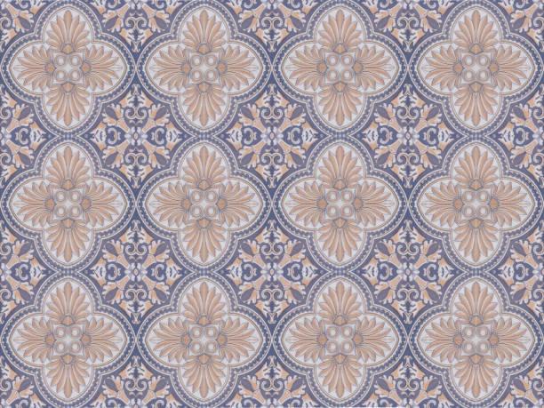 tuiles décoratives ornementales traditionnelles turques. concept de fond abstrait de modèle sans couture. - damas en matière textile photos et images de collection