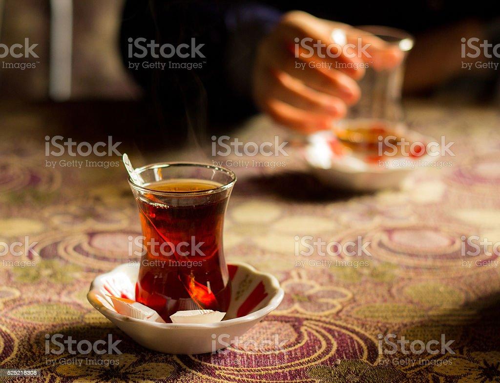 Turkish Traditional Tea stock photo