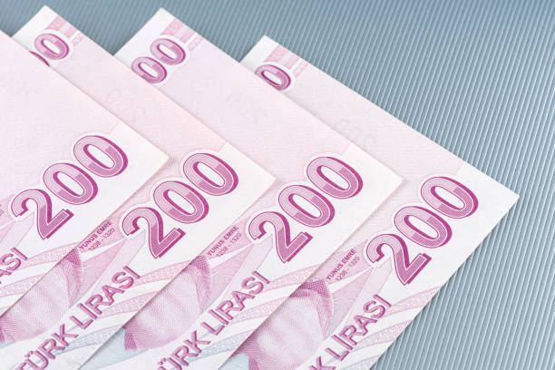 Turkish, Two Hundred Lira banknote front. stock photo