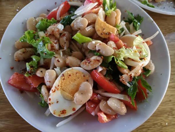 Türkische vegetarische Ben Salat Piyaz in Türkei – Foto