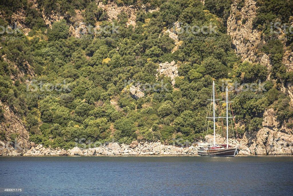 Turkish (Gulet) Yacht royalty-free stock photo