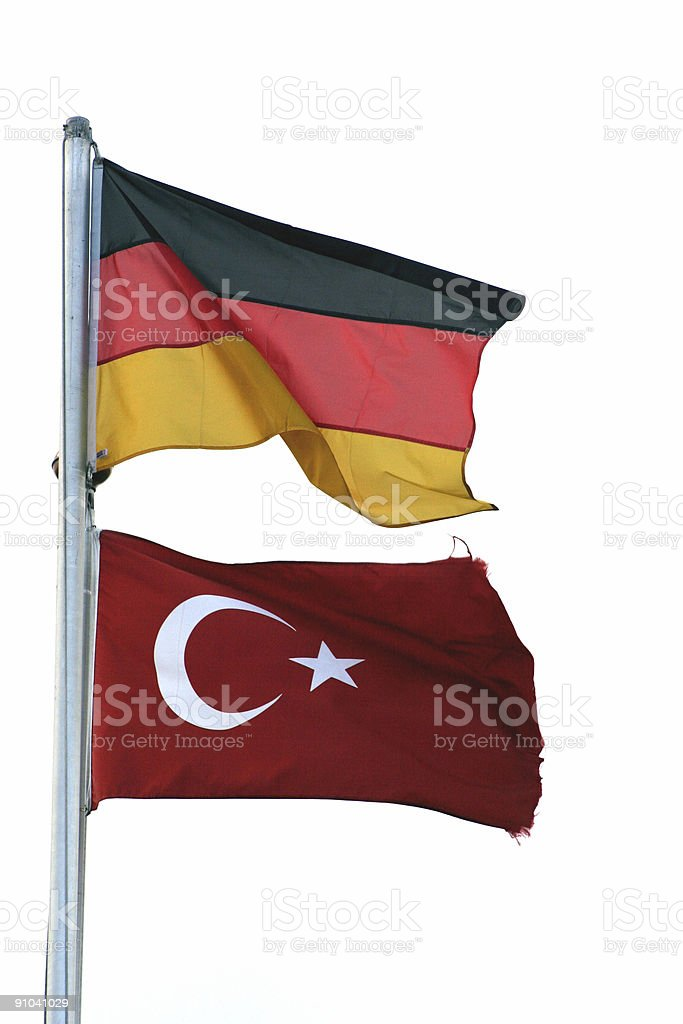 Turkish-German friendship royalty-free stock photo