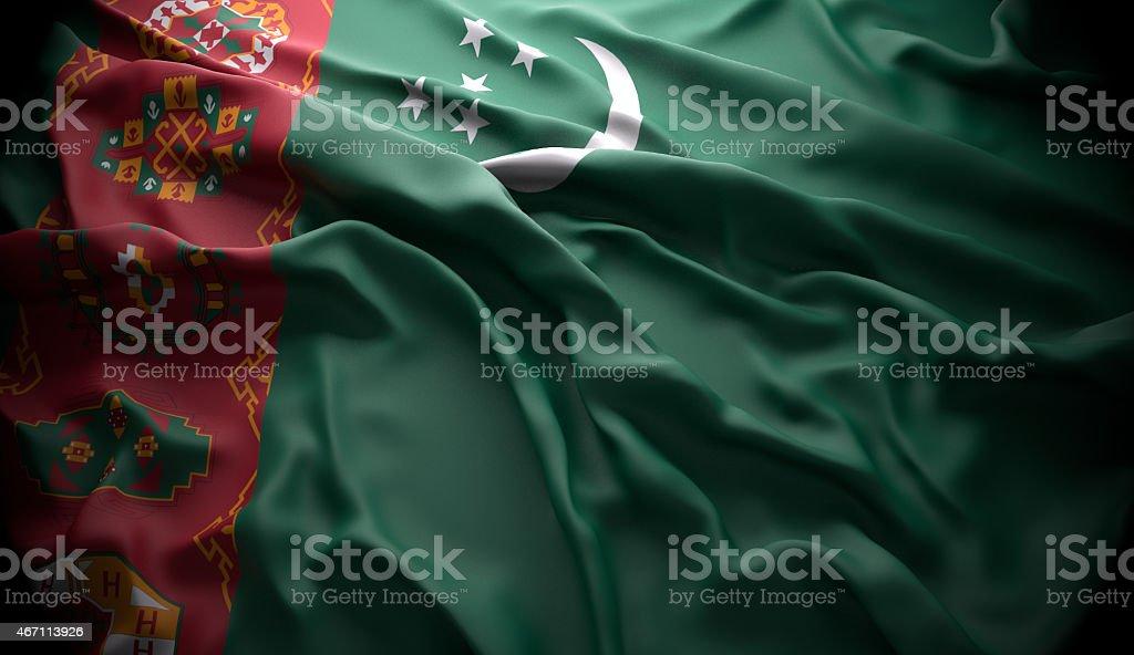 Turkmenistan, Ashgabat national official state flag stock photo