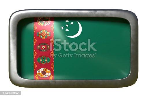 istock Turkmenistan flag sign 1149233672