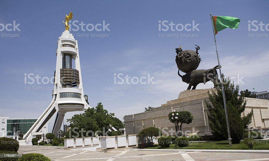 Turkmenistan-Ashgabat, the earthquake museum stock photo
